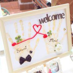 2人の手形を記念に「手形アート」を結婚式に飾りたい!   marry[マリー]