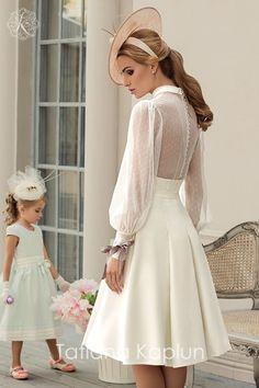 Short Wedding Dresses : Tatiana Kaplun Bridal Collection 2016 Lady of Quality Bridal Outfits, Bridal Dresses, Prom Dresses, Dress Wedding, Wedding Bridesmaids, Flower Girl Dresses, Girls Dresses, Bridesmaid Dresses, Pretty Dresses