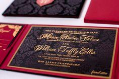Velvet and Damask Invitation - Gourmet Invitations