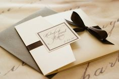 Pocket - Champagne & Brown Metallic Bliss Invitation Collection