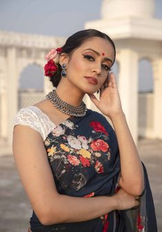 Helen - Navy Blue Floral Print Saree - Sarees - Ethnic Wear - Clothing Latest Kurti Design HAPPY RAM NAVAMI GREETINGS IMAGES PHOTO GALLERY  | HINDISOCH.COM  #EDUCRATSWEB 2020-03-31 hindisoch.com https://www.hindisoch.com/wp-content/uploads/2018/03/Happy-Ram-Navami-Greetings-Images.jpg