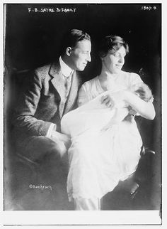 President Wilson's daughter, Jessie Woodrow Wilson Sayre, with her husband Francis Bowes Sayre, and their son, Frances B. Sayre Jr.  That little baby, born in the White House, would grow up to march with Martin Luther King Jr. from Selma to Montgomery.