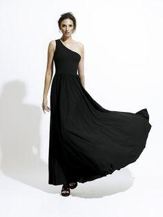 Black dress, one shoulder