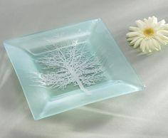 Square tree plate Satin Silver