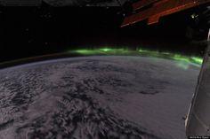 Aurora dallo spazio