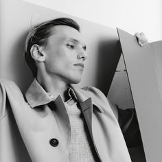 Pure and simple. Actor Jamie Campbell Bower in Spring/Summer 2018.