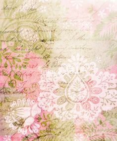 Pastel Paper with Script