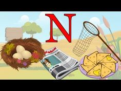 Learn About The Letter N - Preschool Activity Preschool Centers, Preschool Literacy, Preschool Activities, Letter N Activities, Toddler Activities, Teaching The Alphabet, Teaching Kids, Alphabet Video, Letter Of The Week
