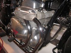 OldMotoDude: 1956 Ariel Square Four MK II on display at The One Motorcycle Show - Portland, Or