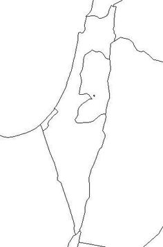 Free Printable Blank Map of Israel