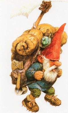 Art Print par elf Rien Poortvliet Gnome David