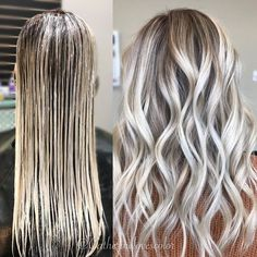 Trendy Hair Highlights : Balayage application & finished +Tips See here the best ever trends of ice blonde hair colors to show off right now. There are so many shades of blonde hair colors that you may use to sport with various hair lengths in these days. Hair Color For Women, Cool Hair Color, Blonde Hair Shades, Healthy Hair Tips, Blonde Balayage, Hair Highlights, Platinum Blonde Highlights, Trendy Hairstyles, Hair Looks