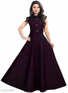 Gowns Mahika Attractive Taffeta Silk Gown Fabric: Taffeta Silk Inner - Cotton Sleeves:  Sleeves Are Attached Inside Size: L - 40 in XL - 42 in  XXL- 44 in Length: Up To 56 in Type: Stitched Description: It Has 1 Piece Of Women's Gown Pattern : Solid Country of Origin: India Sizes Available: M, L, XL, XXL   Catalog Rating: ★4 (498)  Catalog Name: Mahika Attractive Taffeta Silk Gown Vol 12 CatalogID_308238 C79-SC1289 Code: 903-2310481-417