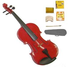 GRACE 18 Size Red Acoustic Violin with Case and BowRosin2 Sets Strings2 BridgesTuner * To view further for this item, visit the image link.Note:It is affiliate link to Amazon.