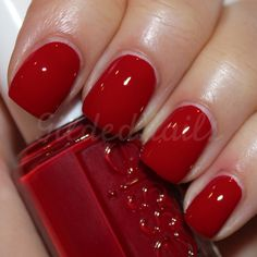 Essie Limited Addiction- looks like the perfect red! #shoplfb || Find makeup, hair styles, nail polish, eyeshadow, mascara, beauty trends, and inspiration at Ledyz Fashions Beauty Spot.The BEST beauty how-tos, beauty guides, makeup tips, hairstyles. Ledyz Fashions - www.ledyzfashions.com