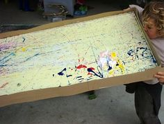 Super sized marble paintings