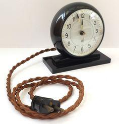 Vintage Retro Rare Bakelite Arne Jacobsen LK Synkronur Scandinavian Alarm Clock