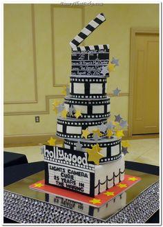 3d Hollywood Film Reel Cake