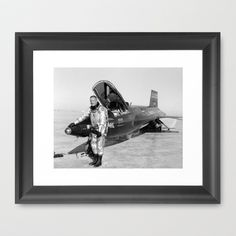 Neil Armstrong Framed Art Print by Planet Prints - $31.00