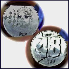 DOUG J. LARSON LOVE TOKEN - JIMMY JOHNSON - 2 SIDED CARVING ON UNKNOW MEXICAN SILVER COIN Jimmy Johnson, Hobo Nickel, Silver Coins, Cufflinks, Mexican, Carving, Silver Quarters, Wood Carvings, Sculptures