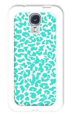 Turquoise Cheetah Rubber Case for Samsung Galaxy S4 Protective Case Cover   eBay