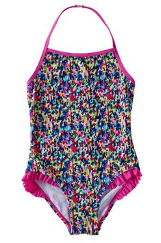 Little Girls One Piece Ruffle Swimsuit