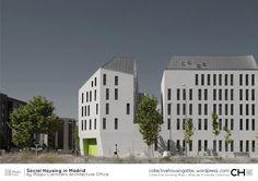 Social Housing in Madrid / Iñaqui Carnicero Architecture Office - Facade Social Housing Architecture, Architecture Office, Residential Architecture, Architecture Design, Facade Design, Arch House, Contemporary Building, Contemporary Architecture, Madrid