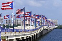 The two best looking flags. Puente Teodoro Moscoso... Carolina, PR