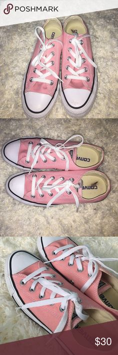 Pink Low-Top Converse All Star pink ; worn only once ; wii accept for $30-$40. Stain on inside of shoe Converse Shoes Sneakers