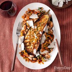 Roasted Eggplants with Sicilian-Style Cannellini Beans