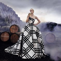Honour: Coco Rocha pulls her famous poses against a backdrop of casks in a series of stunning photographs to mark the inaugural International Scotch Day on Friday February 10th. 'I loved this photo shoot as it playfully partners the swagger and style of Scotch with the craft and artisanship behind the whisky,' she said. Official International Scotch Day celebrations are taking place all over the world, fronted by Coco and actress Freida Pinto.