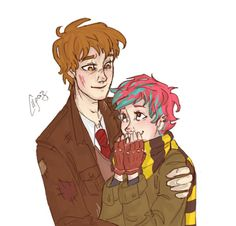 Remus Lupin and Tonks