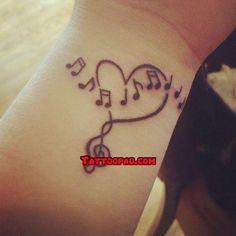 music tattoo designs, music tattoos and tattoo designs. #tattoo #tattoos #ink