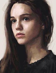 Artist: David Seguin self portrait Oil Portrait, Pencil Portrait, Female Portrait, Portrait Paintings, Digital Portrait Painting, Self Portrait Drawing, Portrait Acrylic, Woman Portrait, Digital Paintings