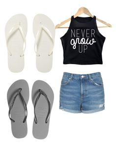 """""""Untitled #37"""" by sunshine1877 ❤ liked on Polyvore featuring Topshop and Havaianas"""