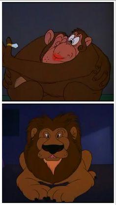 Il magico mondo degli animali leoni e scimpanze