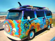 The Ole Hippy Van! LOVE the colouring