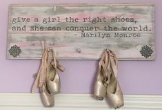 Dedication, perseverance and love of dance! This board allows your Ballerina to display all of her worn pointe shoes. BadgleyDesign FB for more information.