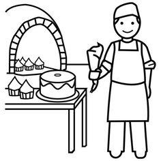 dibujos panaderia para colorear - Buscar con Google