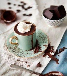 Chocolate, hot and chic.  Tumblr