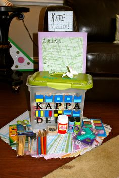 Happy Kit for my little, box filled with crafting supplies