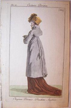 """An 10, Costume Parisien. """" Chapeau Polonais, Douillette Anglaise"""""""