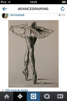 Drawing ballerina
