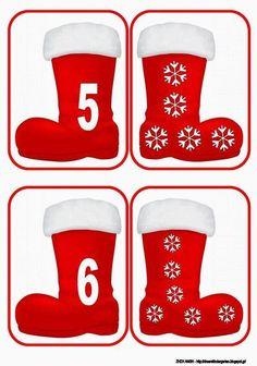 Nová školka sen: S botami Santa Claus . odpovídající a počítání ! Christmas Math, Christmas Themes, Christmas Crafts, Holiday Decor, In Kindergarten, Preschool Activities, Seasons Activities, Felt Books, Autumn Crafts
