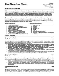 payroll lead supervisor resume template premium resume samples example