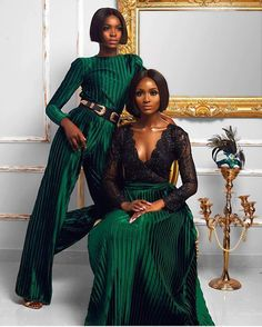 """munaluchibride: """"There's something about this forest green! #munafashion #munaluchibride   #Repost @stylemeafrica ・・・ Our favourite Campaign till date ! We loved working with @shopmaju on this  Did you know we collaborate on shoots and campaigns..."""