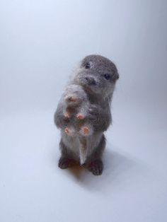 Realistic felted otter with a baby by TrueStyleLab on Etsy