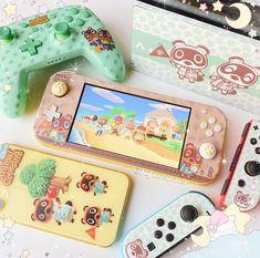 Nintendo Lite, Nintendo Switch Case, Nintendo Switch System, Nintendo Switch Animal Crossing, Animal Crossing Game, Kawai Japan, Nintendo Switch Accessories, Otaku Room, Kawaii Room