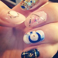 moon hippie nails