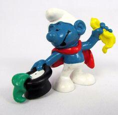 Vtg Bully Smurfs Peyo MAGICIAN Smurf 20114 Schleich W. Germany PVC Figure #Schleich